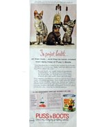 """Puss'n Boots, Print Ad. 60's Full Page Color Illustration, 5 1/2"""" x 13 1... - $12.86"""