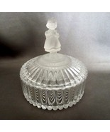 Hummel Crystal Dish Round Trinket Box with Figurine Lid Goebel 1993  - $29.99