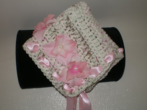 BEAUTIFUL BABY GIRL PIXIE HAT WITH PINK ACCENTS  PHOTO PROP