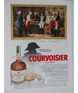 """Courvoisier Cognac, 50's Color Illustration/Painting, Print Ad. 8 1/2""""x ... - $18.99"""