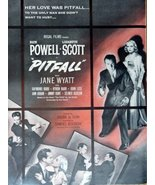 Pitfall, movie, 40's Print Ad. Color Illustration (with Jane Wyatt, Dick... - $14.84