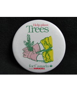 Pinback Button Help Plant Trees For Canada with Duracell Vintage - $3.99