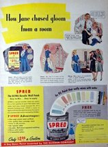 "Spred Paint, 1944 Print Advertisment. Color Illustration, 9 3/4"" x 12 1/... - $12.86"