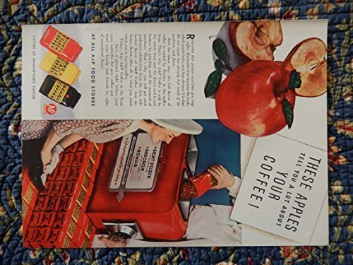 Eight O'Clock, Bokar, Red Circle, 40's Print ad. Color Illustration (A&P food... - $12.86