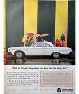 "1964 Dodge Polara 500, 60's full page Color Illustration, 10 1/4"" x 13 1... - $19.99"