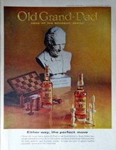 "Old Grand Dad Whskey, 60's Full Page Color Illustration, 10 1/2"" x 13 1/2"" Pr... - $12.86"