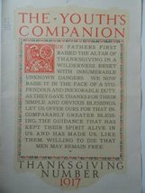 Youth's Companion Cover, 1917 Print Ad. Color Illustration (Thanksgiving Numb... - $18.99