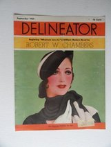 Delineator Magazine (cover only) 1932 cover art Beautiful Woman/Hat,scarf - $18.80