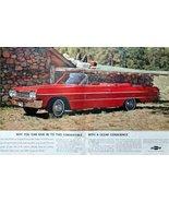 1964 Chevrolet Impala Convertible, 60's Print Advertisment, Color Illust... - $19.99