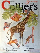 Lawson Wood, Collier's magazine art,1935 cover art by Lawson Wood [cover... - $15.83