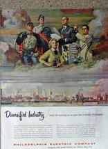 "Philadelphia Electric Company, 50's Full Page Color Illustration 10 1/4"" x 13... - $12.86"