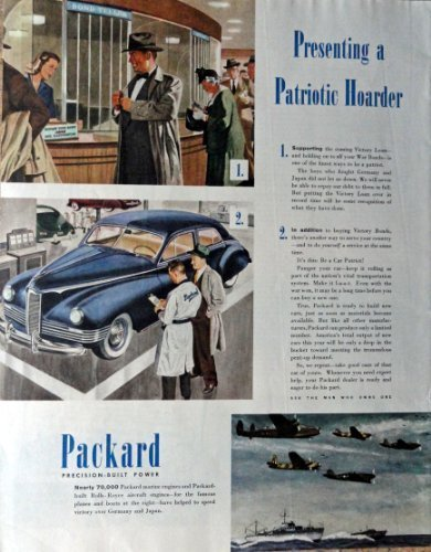 "Primary image for 1945 Packard, 40's Print Ad. Color Illustration 10 1/2"" X 13 1/2"" Print Art. ..."