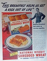 Shredded Wheat Ceral. Full Page Color Illustration (Niagara Falls Product) Or... - $12.86
