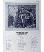 William Sharp, Lithograph, B&W Illustration, Print art (air raid: Barcel... - $14.84