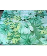 Green Yellow Floral Print Chiffon Fabric - $40.00