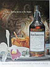 Old Forester Whiskey, 40's Print Ad. Full Page Color Illustration (beautiful ... - $12.86