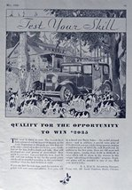 test your skill, 30's Print Ad. B&W Illustration (qualify for the opportunity... - $12.86