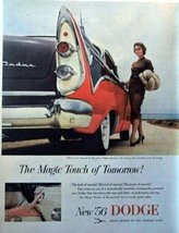 "1956 Dodge, 50's two full pages centerfold Color Illustration, 8 1/4"" x 11"" P... - $12.86"