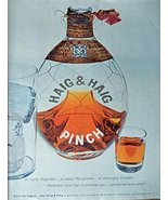 Haig & Haig Pinch Whiskey, 50's Print ad. Full Page Color Illustration (... - $18.99