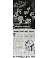 John Hancock Mutual Life Insurance Company, 40's Print ad. B&W Illustrat... - $11.87