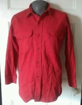 Vintage Red Woolrich Button Up Shirt Made in USA Size L - $18.69