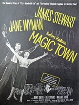 Magic Town,movie poster ad, 40's Full Page Color print ad. Illustration, pain... - $13.85