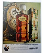 """Old Charter Bourbon Whiskey, Full Page Color Illustration, 10 1/2"""" x 13 ... - $18.99"""
