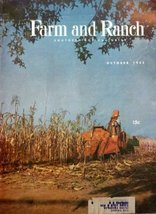 Farm and Ranch Magazine Cover, 1955 Illustration (farmer picking corn) [cover... - $14.84