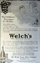 "Welch's Grape Juice, Print Advertisment. 1913 B&W Illustration, 5"" x 7"" ... - $12.86"