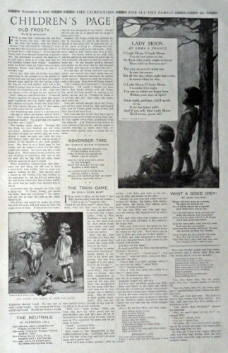 The Children's Page, November 2,1916, the Youth's Companion [641]. Stories, P... - $16.82