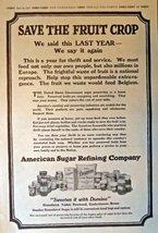 "Domino Cane Sugar, 1917 Full Page B&W Illustrations, 11"" x 16"" Print Ad.... - $14.84"