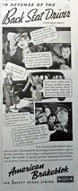 "Ameican Brakeblok Brake Linning, 30's B&W Illustration, 5 1/2"" x 13"" Print Ad... - $18.99"
