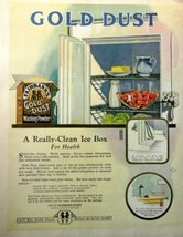 "Gold Dust Washing Powder 1923 full page Color Illustration, 10 1/4"" x 13"" Pri... - $12.86"