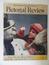 Pictorial Review Magazine 1937 (cover only) cover art Boy making a snowman - $16.82