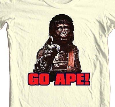 Planet of the Apes 1970's GO APE T shirt retro original movie 100% cotton tee
