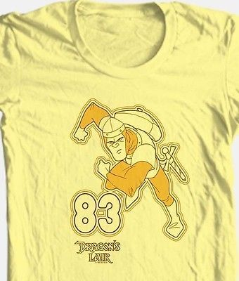Dragon's Lair '83 T shirt arcade video game 80's cartoon cotton graphic tee