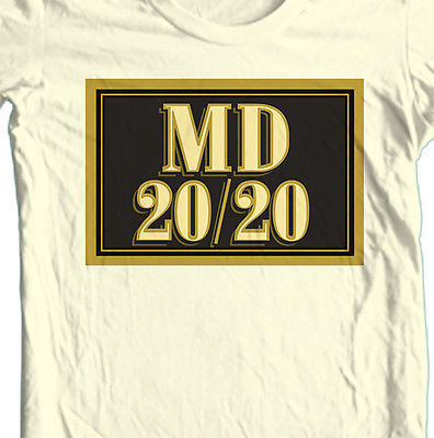 MD 20 / 20 T shirt Mad Dog MD 20 20 bum wine 100% cotton graphic printed tee
