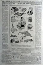 Boys Page for December, 1916 the Youth's Companion [710] Illustrations, ... - $16.82