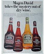 Mogen David Wine, 60's Print ad. Full page Color Illustration (beautiful... - $21.99