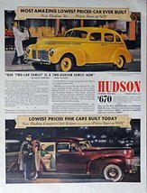 1940 Hudson Car, 40's Print Ad. Color Illustration ($670-most amazing ca... - $13.85