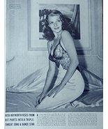 Rita Hayworth, print art, (on Bed) Original Rare 1941 Life Magazine Art ... - $18.99