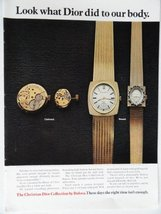 "Bulova Watches, 70's Color Illustration/Painting, Print Ad. 8 1/2""x11""(dior w... - $12.86"