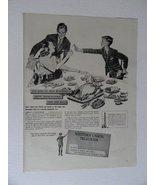 Western Union Telegram, 40's Print Ad. full page B&W Illustration, paint... - $13.85