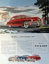 1948 Packard Car, 40's Print Ad. Full Page Color Illustration by Brindle 10 1... - $13.85