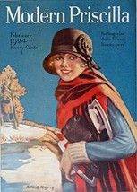 Arthur Moscon, 20's Magazine Cover art, Color Illustration (beautiful wo... - $21.77