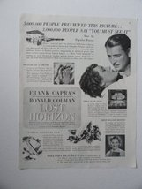 Lost Horizon, [movie poster], 30's Print Ad. Full Page B&W Illustration (Jane... - $15.83