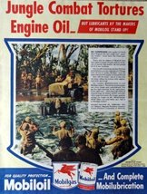 "Mobiloil, 40's Print Ad. Color Illustration 10 1/2"" X 13 1/2"" Print Art. (Jun... - $14.84"