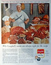 "Campbell's Quality, 50's Print Ad. Color Illustration 10 1/2"" X 13 1/2"" Print... - $12.86"