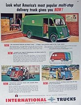 1949 International Trucks, 40's Print ad. Color Illustration (KB-5-M Met... - $14.84