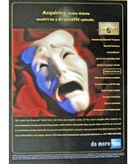 """American Express, Print Ad. 90's full page color Illustration, 8"""" x 10 3... - $12.86"""